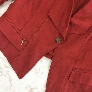 White House Black Market Jackets & Coats - White House Black Market Rust Drape Front Blazer